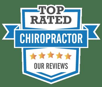top rated chiropractor badge