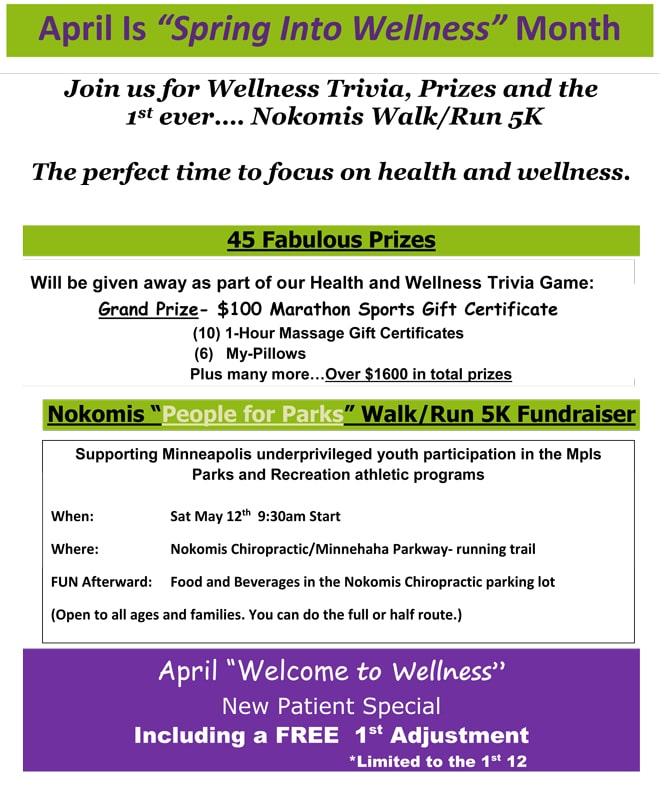 Upcoming Events Held at Nokomis Chiropractic and Wellness