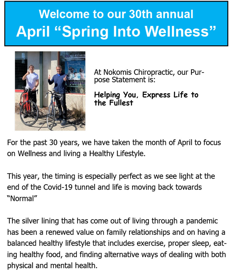 Chiropractic Minneapolis MN 30th Annual Spring Into Wellness